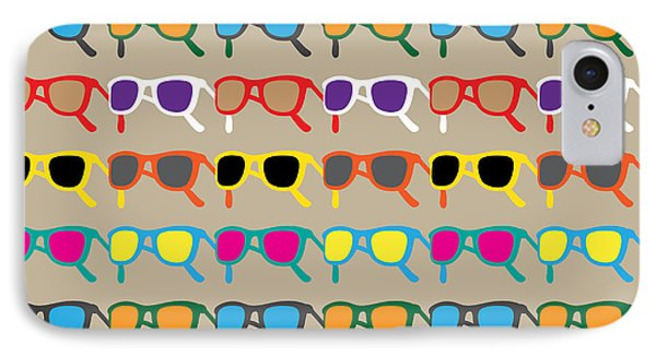 South America iPhone 7 Case - Sun Glasses Pattern by Leo Brazil