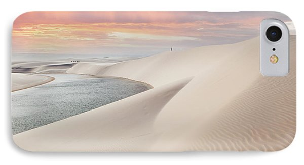 South America iPhone 7 Case - Sunset Over The Sand Dunes And Lagoons by Thanosquest