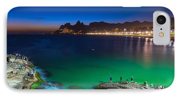 South America iPhone 7 Case - Sunset View Of Ipanema In Rio De by Catarina Belova