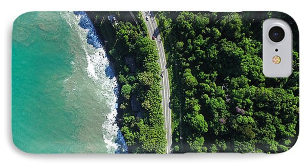 South America iPhone 7 Case - Top View Of Highway In A Coastline by Gustavo Frazao