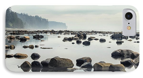 Rocky Mountain iPhone 7 Case - Tranquil Sea Water Surface Landscape by Anton Bielousov