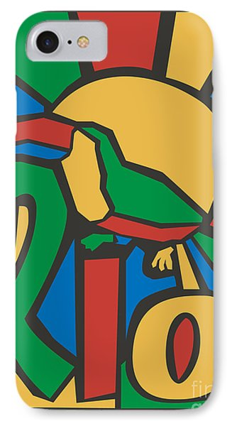 South America iPhone 7 Case - Vector Illustration Rio Poster by Trentemoller