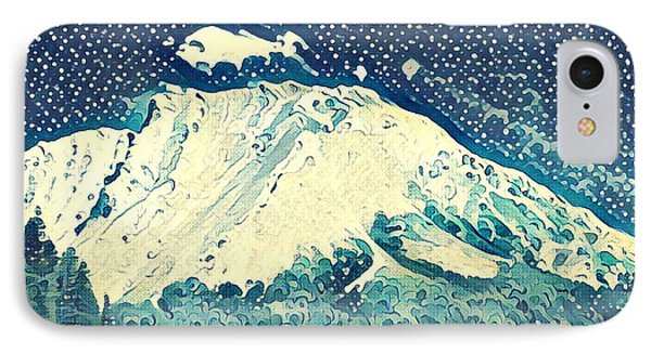 Rocky Mountain iPhone 7 Case - Watercolor Painting Of The Rockies by Melissa King
