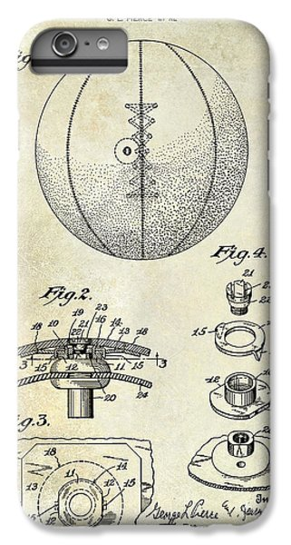 1927 Basketball Patent Drawing IPhone 7 Plus Case by Jon Neidert