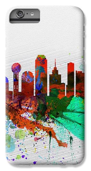 Dallas iPhone 7 Plus Case -  Dallas Watercolor Skyline by Naxart Studio