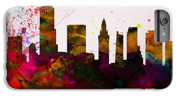 Miami Skyline iPhone 7 Plus Case -  Miami City Skyline by Naxart Studio