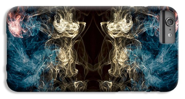 Minotaur iPhone 7 Plus Case -  Minotaur Smoke Abstract by Edward Fielding