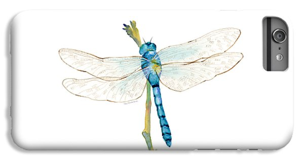 Insects iPhone 7 Plus Case - Blue Dragonfly by Amy Kirkpatrick