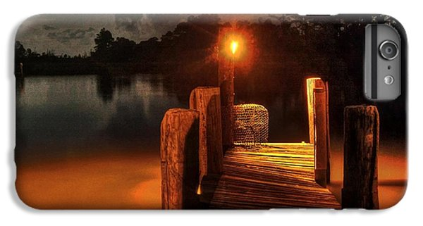 Shrimp Boats iPhone 7 Plus Case - Crab Pot At The End Of The Dock by Michael Thomas
