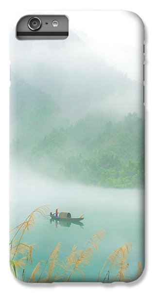 Boats iPhone 7 Plus Case - Fog Sprinkle The East River by Hua Zhu