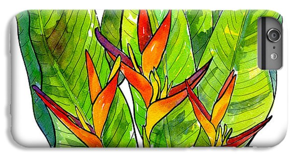 Heliconia IPhone 7 Plus Case by Diane Thornton