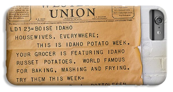 Idaho Potato Museum IPhone 7 Plus Case by Jim West