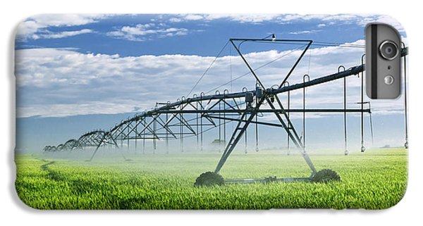 Rural Scenes iPhone 7 Plus Case - Irrigation Equipment On Farm Field by Elena Elisseeva