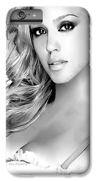 #1 Jessica Alba IPhone 7 Plus Case by Alan Armstrong