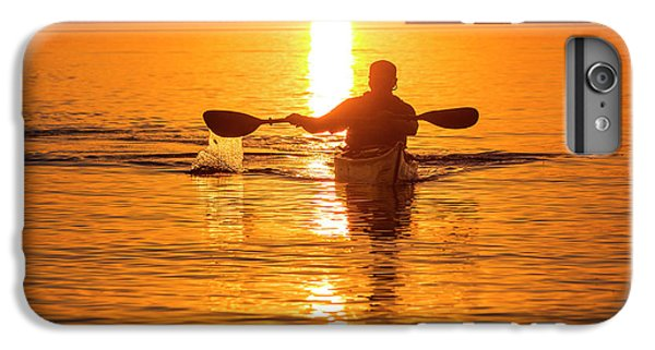Lake Superior iPhone 7 Plus Case - Kayaking At Sunset In The Apostle by Chuck Haney