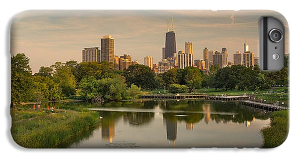 City Sunset iPhone 7 Plus Case - Lincoln Park Lagoon Chicago by Steve Gadomski