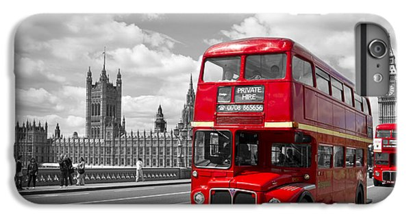 London iPhone 7 Plus Case - London - Houses Of Parliament And Red Buses by Melanie Viola
