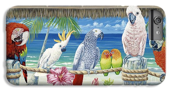 Parrot iPhone 7 Plus Case - Parrots In Paradise by Danielle  Perry