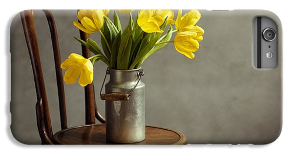 Tulip iPhone 7 Plus Case - Still Life With Yellow Tulips by Nailia Schwarz
