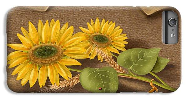 Ladybug iPhone 7 Plus Case - Sunflowers by Veronica Minozzi