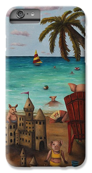 Jet Ski iPhone 7 Plus Case - The Bacon Shortage by Leah Saulnier The Painting Maniac