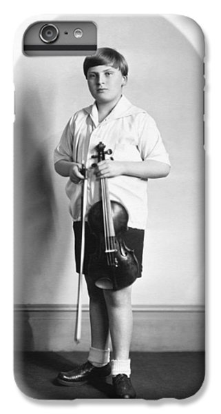 Violin iPhone 7 Plus Case - Violinist Yehudi Menuhin by Underwood Archives
