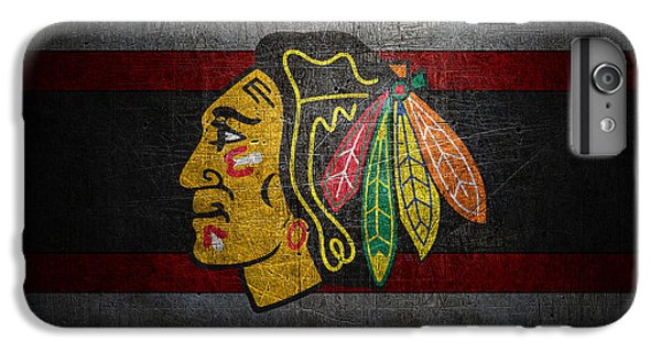 Hockey iPhone 7 Plus Case - Chicago Blackhawks by Joe Hamilton