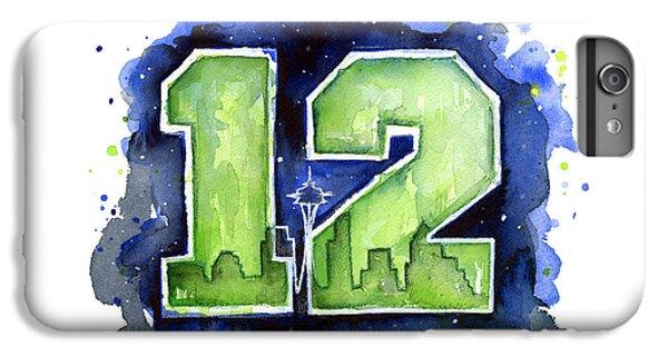 12th Man Seahawks Art Seattle Go Hawks IPhone 7 Plus Case