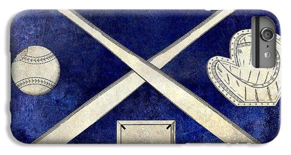Oriole iPhone 7 Plus Case - 1838 Baseball Drawing 2 Tone Blue by Jon Neidert