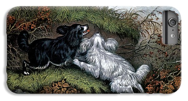 1860s Two Spaniel Dogs Flushing IPhone 7 Plus Case