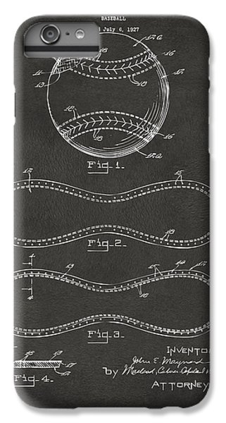 1928 Baseball Patent Artwork - Gray IPhone 7 Plus Case