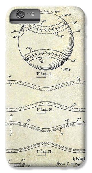 Oriole iPhone 7 Plus Case - 1928 Baseball Patent Drawing  by Jon Neidert