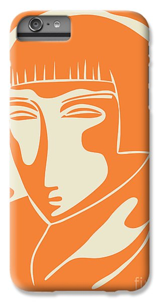 Portraits iPhone 7 Plus Case - 1928 Woman Face   Orange by Igor Kislev