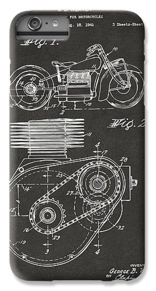 1941 Indian Motorcycle Patent Artwork - Gray IPhone 7 Plus Case