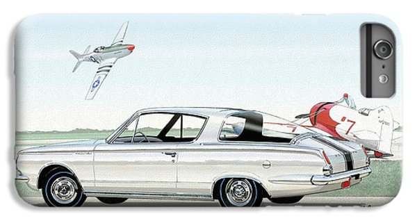 1965 Barracuda  Classic Plymouth Muscle Car IPhone 7 Plus Case by John Samsen