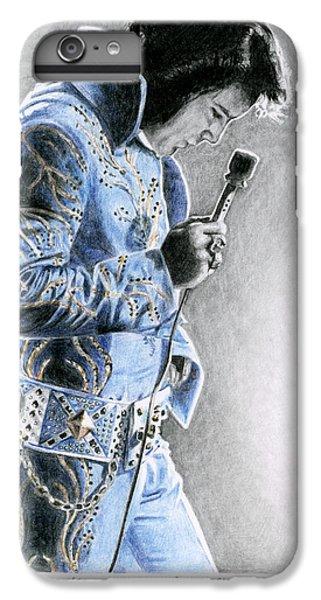 Elvis Presley iPhone 7 Plus Case - 1972 Light Blue Wheat Suit by Rob De Vries