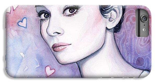 Actors iPhone 7 Plus Case - Audrey Hepburn Fashion Watercolor by Olga Shvartsur