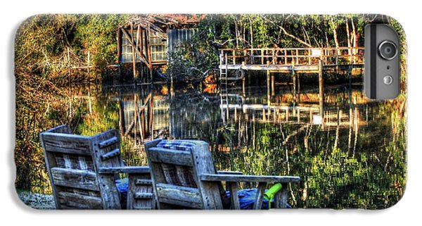 Shrimp Boats iPhone 7 Plus Case - 2 Chairs On The Magnolia River by Michael Thomas
