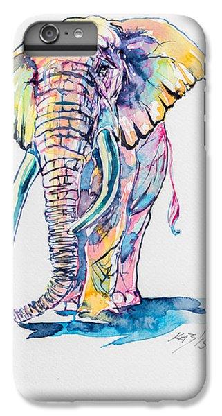 Colorful Elephant IPhone 7 Plus Case by Kovacs Anna Brigitta