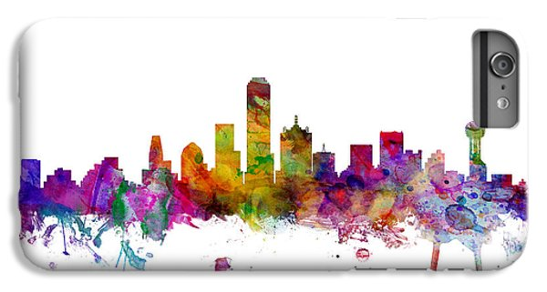 Dallas iPhone 7 Plus Case - Dallas Texas Skyline by Michael Tompsett