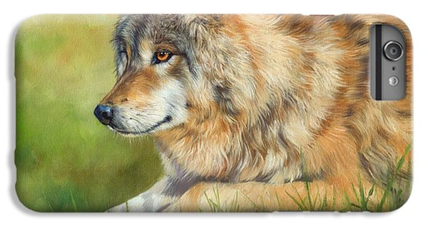 Wolves iPhone 7 Plus Case - Grey Wolf by David Stribbling