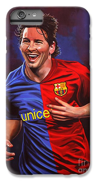 Barcelona iPhone 7 Plus Case - Lionel Messi  by Paul Meijering
