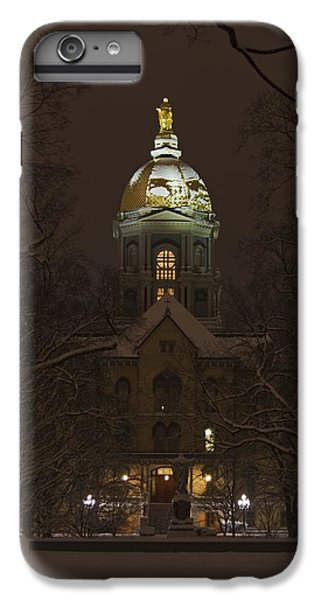Notre Dame Golden Dome Snow IPhone 7 Plus Case by John Stephens