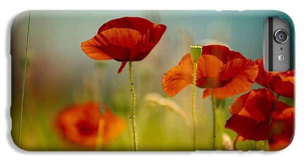 Red iPhone 7 Plus Case - Summer Poppy by Nailia Schwarz