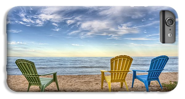 Lake Michigan iPhone 7 Plus Case - 3 Chairs by Scott Norris