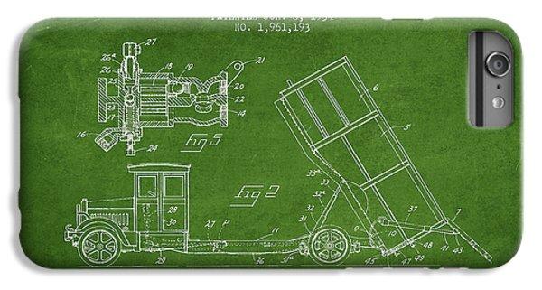 Dump Truck Patent Drawing From 1934 IPhone 7 Plus Case by Aged Pixel