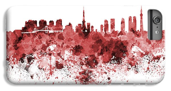 Tokyo Skyline In Watercolor On White Background IPhone 7 Plus Case by Pablo Romero