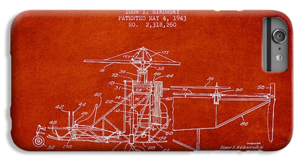 Sikorsky Helicopter Patent Drawing From 1943 IPhone 7 Plus Case