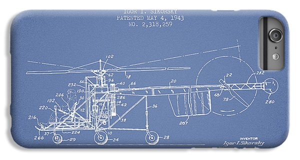 Helicopter iPhone 7 Plus Case - Sikorsky Helicopter Patent Drawing From 1943 by Aged Pixel