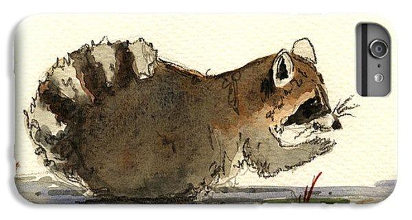 Raccoon iPhone 7 Plus Case - Raccoon  by Juan  Bosco